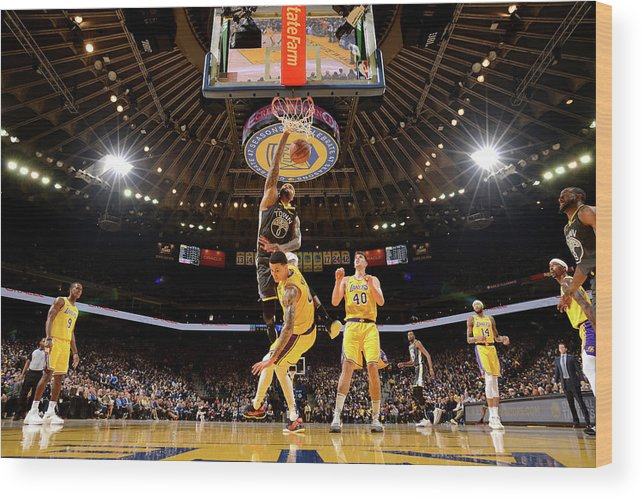 Nba Pro Basketball Wood Print featuring the photograph Demarcus Cousins by Noah Graham