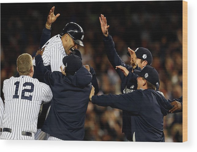 Ninth Inning Wood Print featuring the photograph Derek Jeter by Elsa