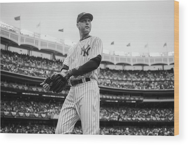 East Wood Print featuring the photograph Derek Jeter by Rob Tringali