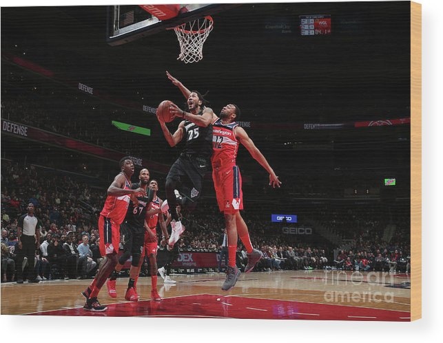 Nba Pro Basketball Wood Print featuring the photograph Derrick Rose by Ned Dishman