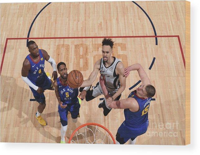 Nba Pro Basketball Wood Print featuring the photograph Derrick White by Garrett Ellwood