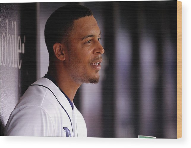 Second Inning Wood Print featuring the photograph Desmond Jennings by Brian Blanco