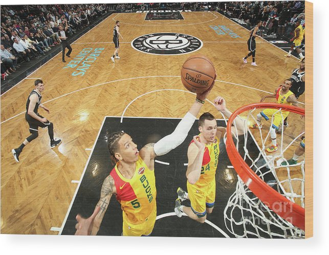 Nba Pro Basketball Wood Print featuring the photograph D.j. Wilson by Nathaniel S. Butler