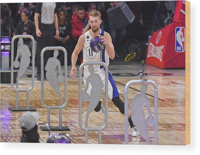 Nba Pro Basketball Wood Print featuring the photograph Domantas Sabonis by Bill Baptist