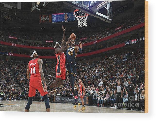 Nba Pro Basketball Wood Print featuring the photograph Donovan Mitchell by Noah Graham