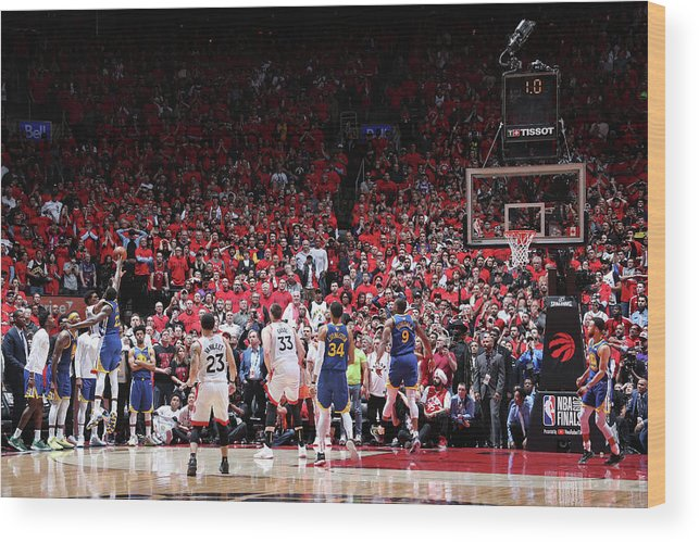 Playoffs Wood Print featuring the photograph Draymond Green and Kyle Lowry by Nathaniel S. Butler