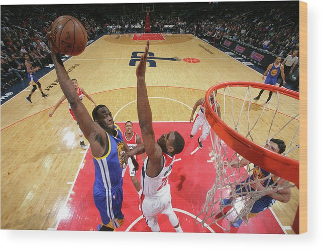 Nba Pro Basketball Wood Print featuring the photograph Draymond Green by Ned Dishman