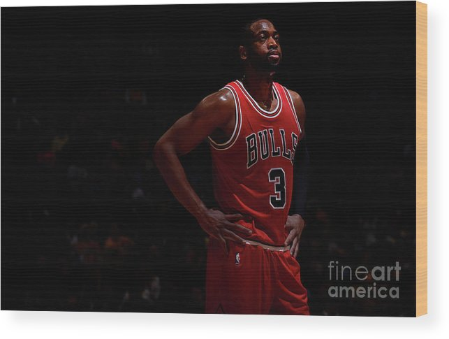 Nba Pro Basketball Wood Print featuring the photograph Dwyane Wade by Bart Young