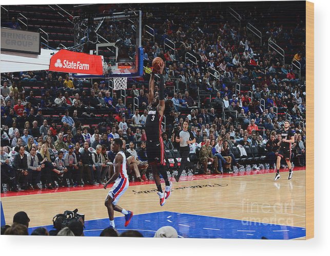 Nba Pro Basketball Wood Print featuring the photograph Dwyane Wade by Chris Schwegler