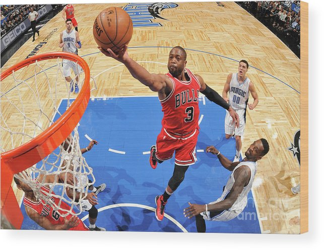 Nba Pro Basketball Wood Print featuring the photograph Dwyane Wade by Fernando Medina