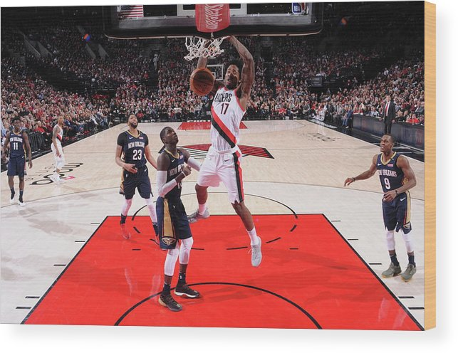 Playoffs Wood Print featuring the photograph Ed Davis by Sam Forencich
