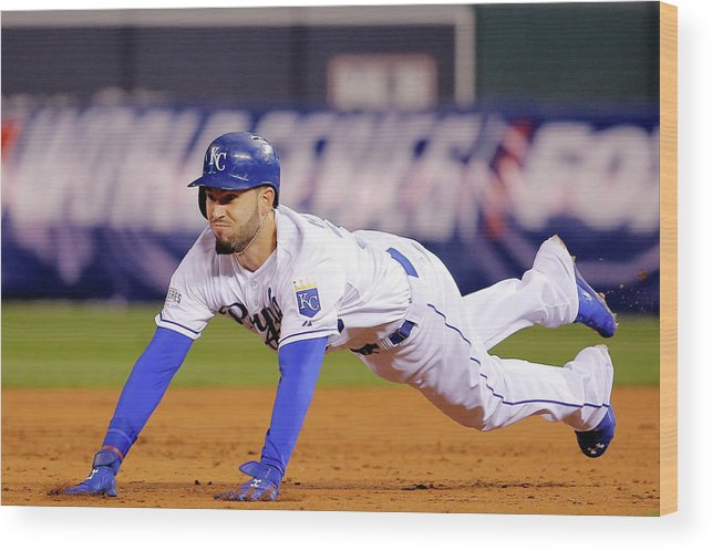 Second Inning Wood Print featuring the photograph Eric Hosmer by Doug Pensinger
