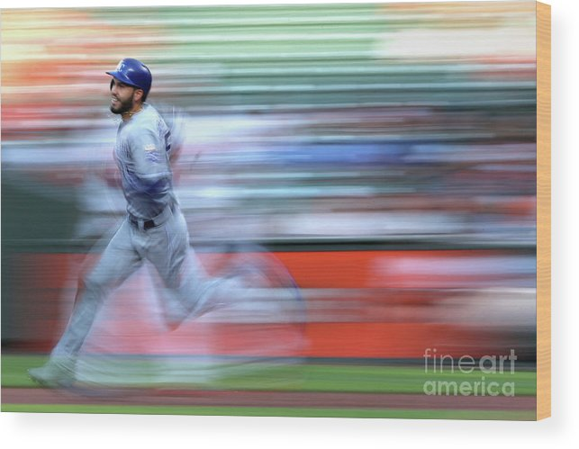 People Wood Print featuring the photograph Eric Hosmer by Patrick Smith