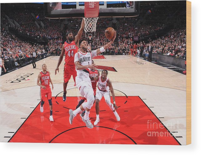 Nba Pro Basketball Wood Print featuring the photograph Evan Turner by Sam Forencich