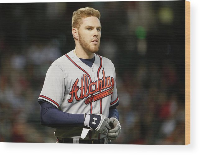 People Wood Print featuring the photograph Freddie Freeman by Christian Petersen