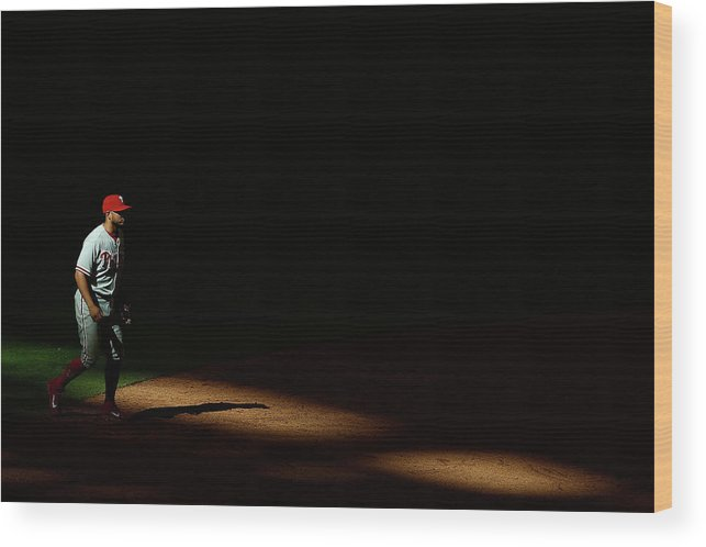 Ninth Inning Wood Print featuring the photograph Freddy Galvis by Christian Petersen