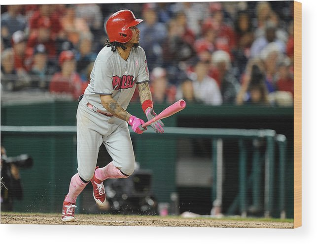 People Wood Print featuring the photograph Freddy Galvis by Greg Fiume