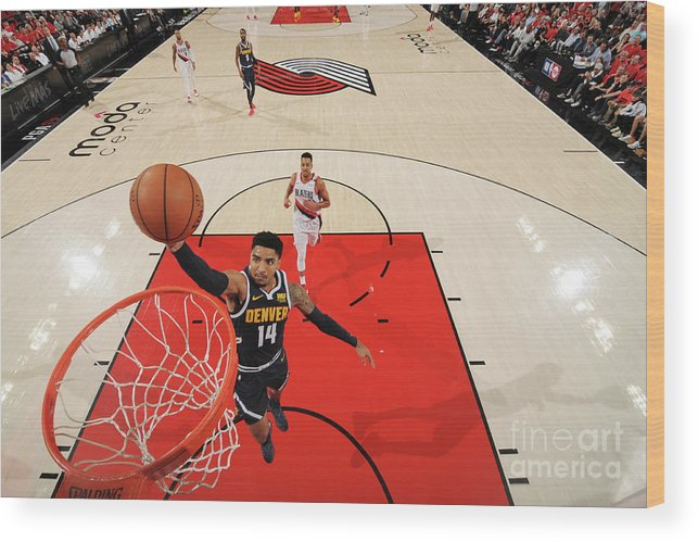 Nba Pro Basketball Wood Print featuring the photograph Gary Harris by Cameron Browne