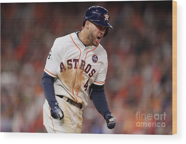 Three Quarter Length Wood Print featuring the photograph George Springer by Christian Petersen