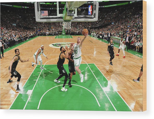 Nba Pro Basketball Wood Print featuring the photograph Gordon Hayward by Brian Babineau