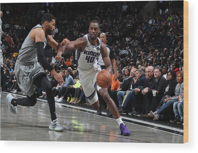 Nba Pro Basketball Wood Print featuring the photograph Harrison Barnes by Nathaniel S. Butler
