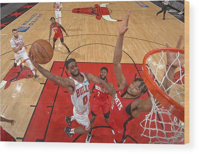 Coby White Wood Print featuring the photograph Houston Rockets v Chicago Bulls by Randy Belice