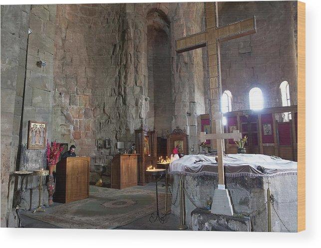 Art Wood Print featuring the photograph Inside the Jvari Church, Mtskheta by Vyacheslav Argenberg