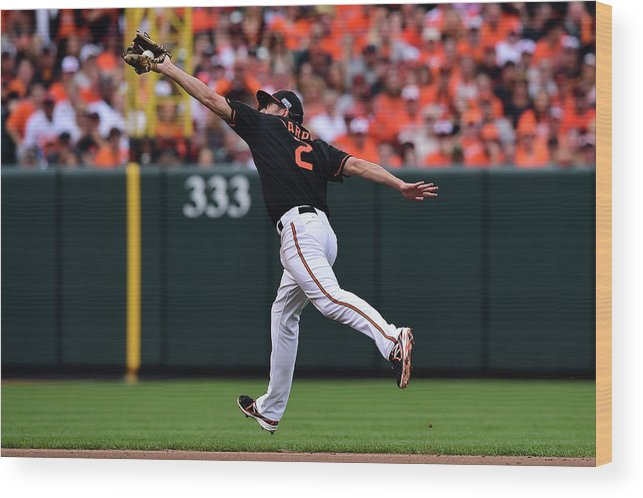 Game Two Wood Print featuring the photograph J. J. Hardy by Patrick Smith