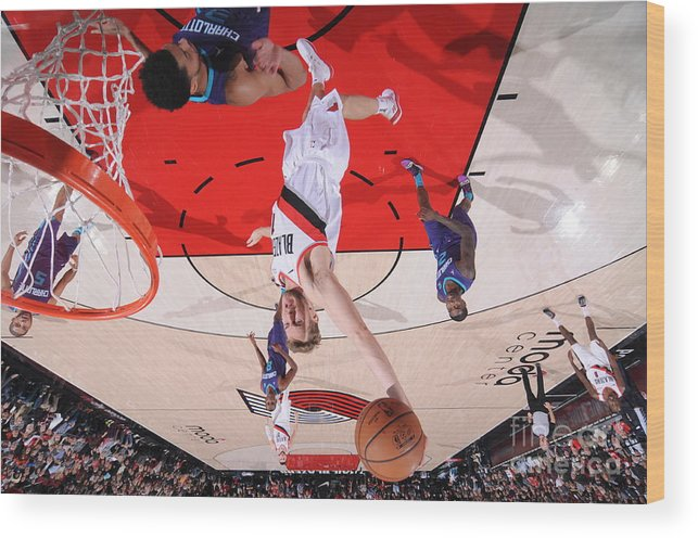 Nba Pro Basketball Wood Print featuring the photograph Jake Layman by Sam Forencich