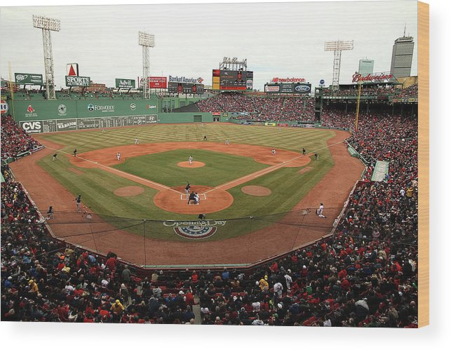 American League Baseball Wood Print featuring the photograph Jake Peavy by Jared Wickerham