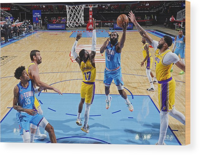 Nba Pro Basketball Wood Print featuring the photograph James Harden by Cato Cataldo