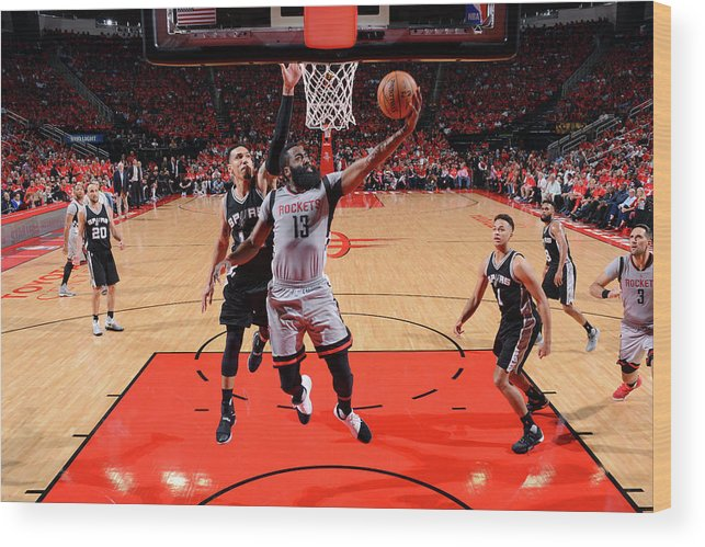 Playoffs Wood Print featuring the photograph James Harden by Jesse D. Garrabrant