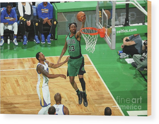 Nba Pro Basketball Wood Print featuring the photograph James Young by Nathaniel S. Butler