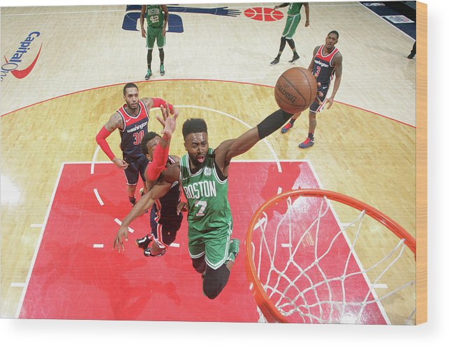 Nba Pro Basketball Wood Print featuring the photograph Jaylen Brown by Ned Dishman