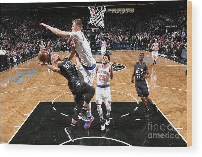 Nba Pro Basketball Wood Print featuring the photograph Jeremy Lin by Nathaniel S. Butler