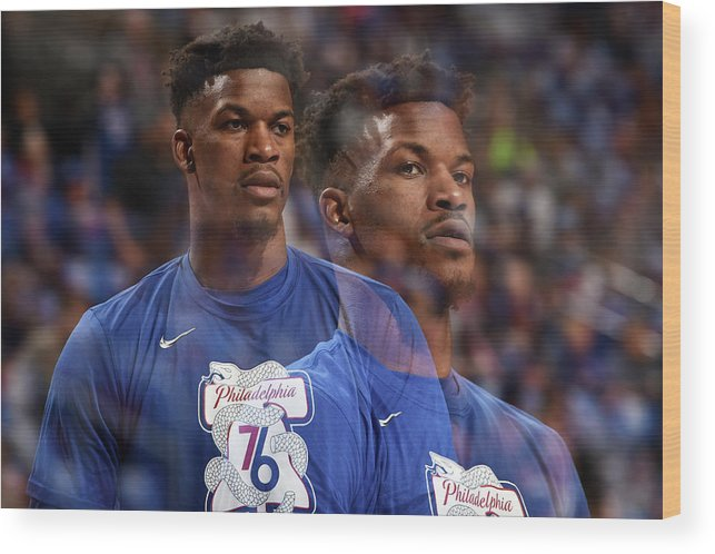 Playoffs Wood Print featuring the photograph Jimmy Butler by David Dow