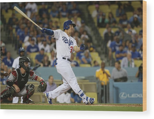 Second Inning Wood Print featuring the photograph Joc Pederson by Stephen Dunn