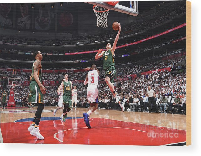 Playoffs Wood Print featuring the photograph Joe Ingles by Andrew D. Bernstein