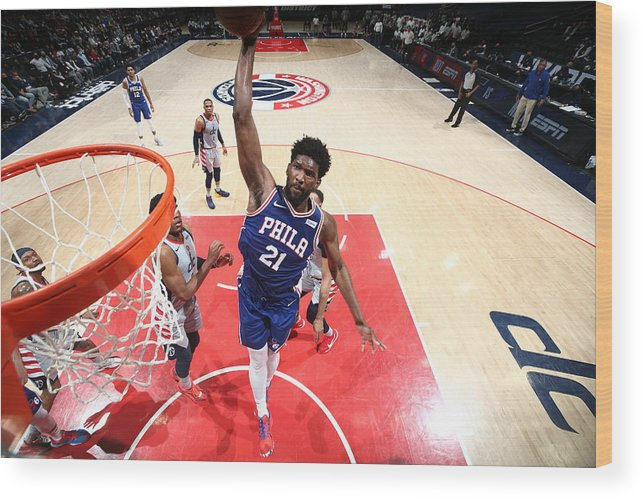 Playoffs Wood Print featuring the photograph Joel Embiid by Ned Dishman