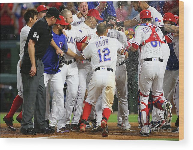 Ninth Inning Wood Print featuring the photograph Joey Gallo by Rick Yeatts