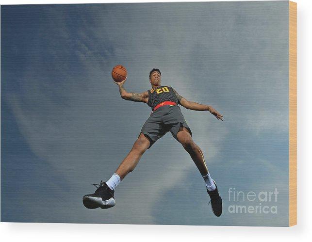 Nba Pro Basketball Wood Print featuring the photograph John Collins by Jesse D. Garrabrant
