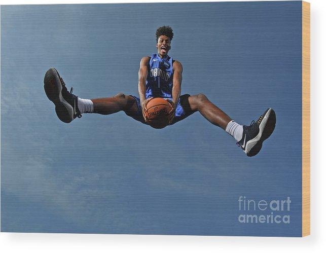Nba Pro Basketball Wood Print featuring the photograph Jonathan Isaac by Jesse D. Garrabrant