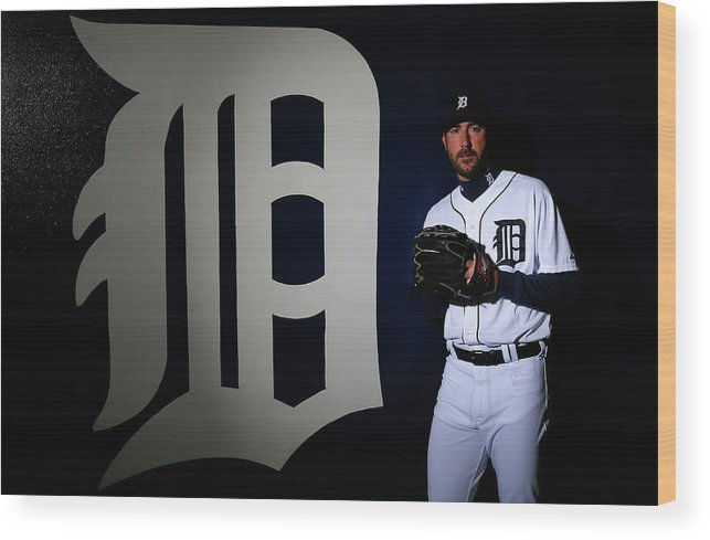 Media Day Wood Print featuring the photograph Justin Verlander by Kevin C. Cox