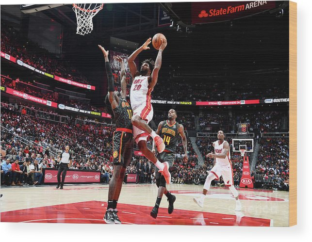 Atlanta Wood Print featuring the photograph Justise Winslow by Scott Cunningham