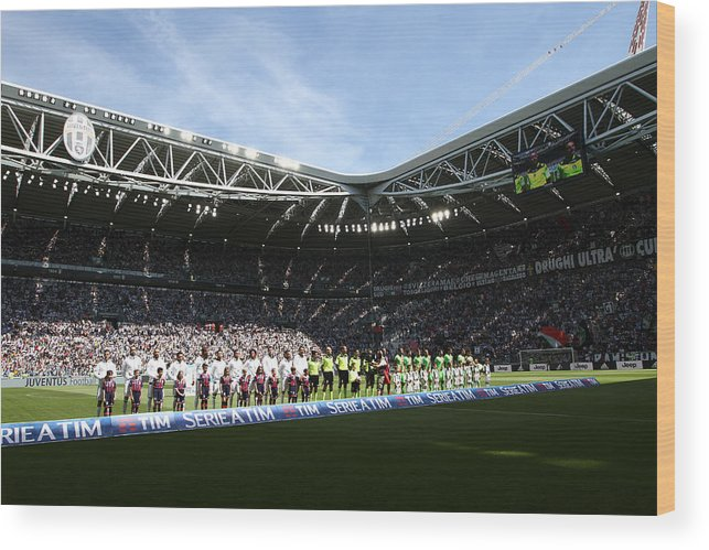 Team Sport Wood Print featuring the photograph Juventus FC v FC Crotone - Serie A by NurPhoto