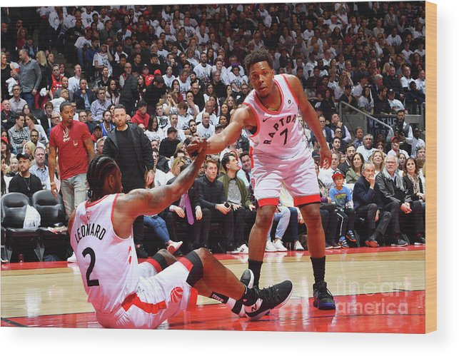 Playoffs Wood Print featuring the photograph Kawhi Leonard and Kyle Lowry by Jesse D. Garrabrant