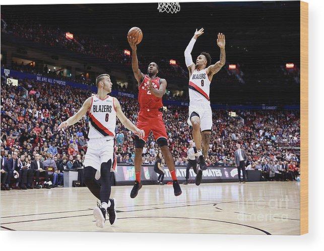 Nba Pro Basketball Wood Print featuring the photograph Kawhi Leonard by Jeff Vinnick