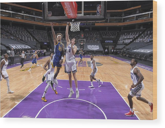 Nba Pro Basketball Wood Print featuring the photograph Kelly Oubre and Nemanja Bjelica by Rocky Widner