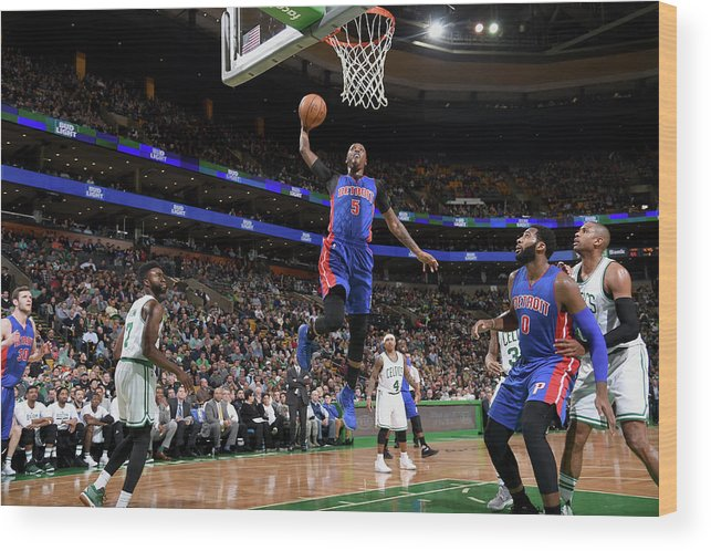 Nba Pro Basketball Wood Print featuring the photograph Kentavious Caldwell-pope by Brian Babineau