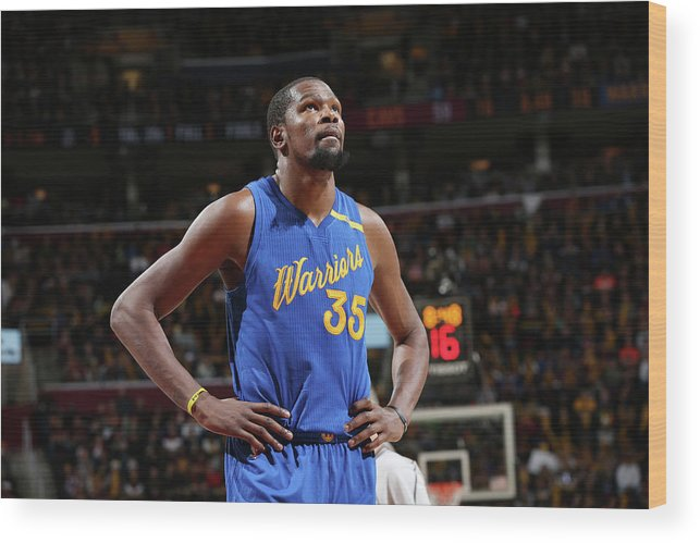 Nba Pro Basketball Wood Print featuring the photograph Kevin Durant by David Sherman